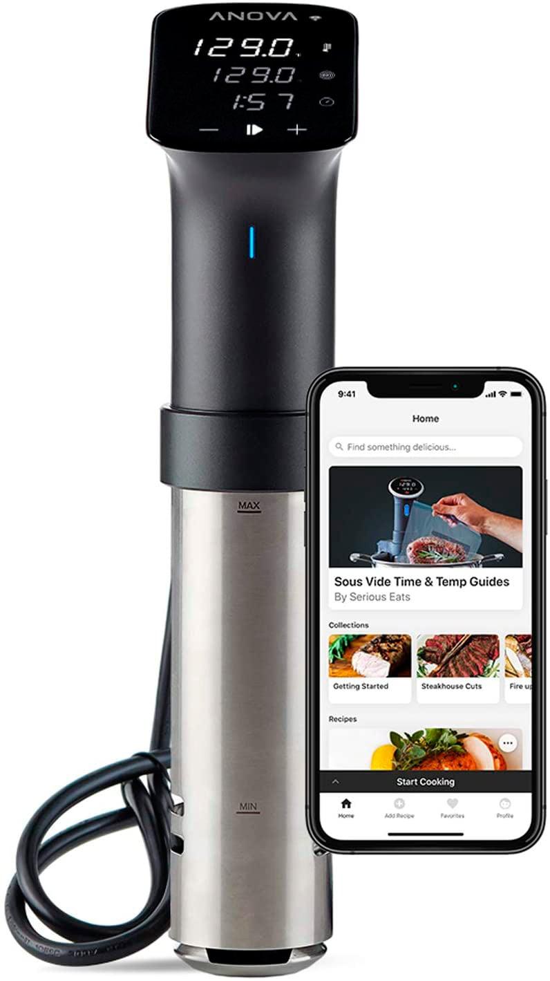 Anova Culinary | Sous Vide Precision Cooker Pro (WiFi) | 1200 Varios | Metálico | App Anova incluída