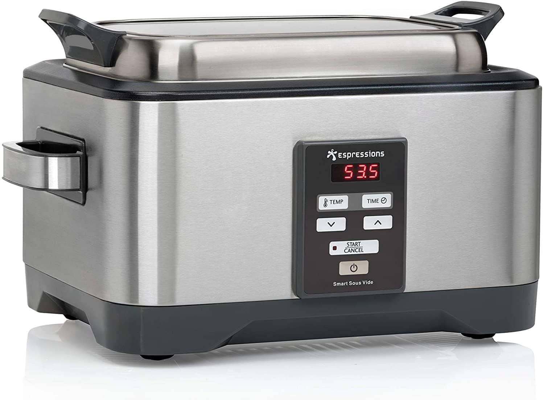 Espressions Sous-Vide - Olla de cocción lenta (5,5 L, con temporizador, bandeja para carne y temperatura regulable)